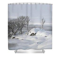 Snowy Landscape Shower Curtain