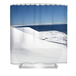 Snowy Mauna Kea Shower Curtain by Peter French - Printscapes