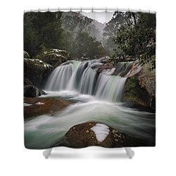 Snowy Mist Shower Curtain