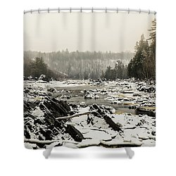 Snowy Morning At Jay Cooke Shower Curtain