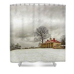 Snowy Mt Vernon Shower Curtain