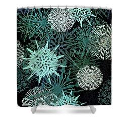 Snowy Night Shower Curtain by AugenWerk Susann Serfezi