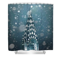 Snowy Spires Shower Curtain