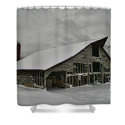 Snowy Thunder Shower Curtain