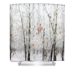 Shower Curtain featuring the photograph Snowy Trees Abstract by Benanne Stiens