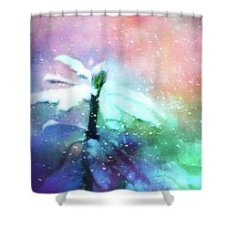 Snowy Winter Abstract Shower Curtain