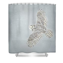 Snowy Winter Shower Curtain
