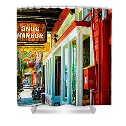 Snug Harbor Jazz Bistro- Nola Shower Curtain by Kathleen K Parker
