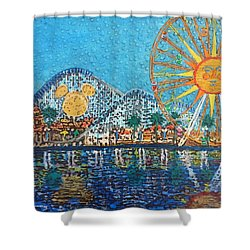 Shower Curtain featuring the painting So Cal Adventure by Amelie Simmons