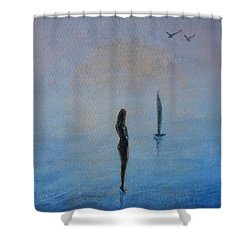 So Close Shower Curtain by Jane See