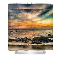 Sunrise On The Jetty Shower Curtain