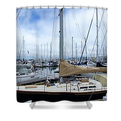 Shower Curtain featuring the photograph So Many Sailboats by Laura DAddona