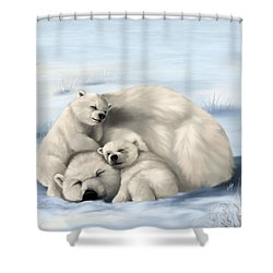 Shower Curtain featuring the painting So Much Love by Veronica Minozzi