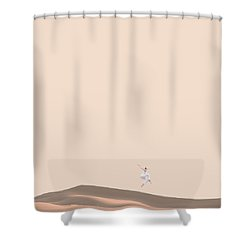 So Sand Shower Curtain by Caterina Theoharidou