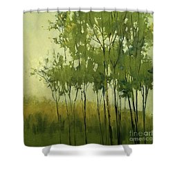 So Tall Tree Forest Landscape Painting Shower Curtain