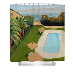 Shower Curtain featuring the painting So Very California by Gary Coleman