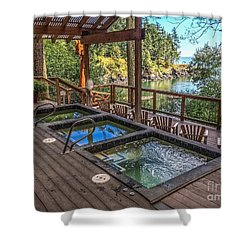 Shower Curtain featuring the photograph Soak In Doe Bay by William Wyckoff