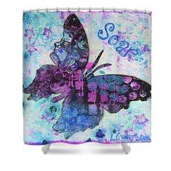 Soar Butterfly Shower Curtain