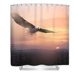 Soaring Free Shower Curtain