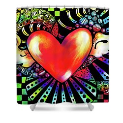 Soaring Heart Coloration Shower Curtain