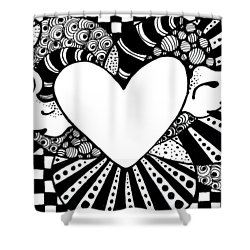 Soaring Heart  Shower Curtain by Nada Meeks