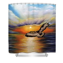 Soaring High Shower Curtain by Dianna Lewis