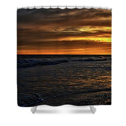 Soaring In The Sunset Shower Curtain