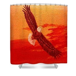 Shower Curtain featuring the painting Soaring by Katherine Young-Beck