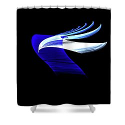 Shower Curtain featuring the digital art Soaring by Lea Wiggins