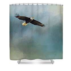 Shower Curtain featuring the photograph Soaring by Rebecca Cozart