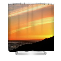 Shower Curtain featuring the photograph Socal Sunet by Clayton Bruster