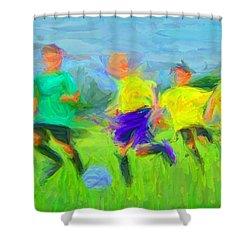 Soccer 3 Shower Curtain