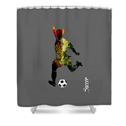 Soccer Collection Shower Curtain