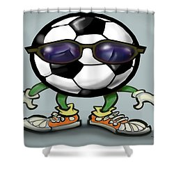 Soccer Cool Shower Curtain by Kevin Middleton