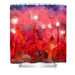 Soccer Fans Pictures Shower Curtain