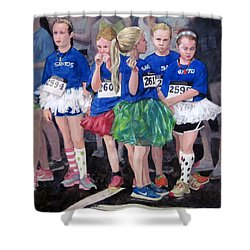 Soccer Girls Shower Curtain