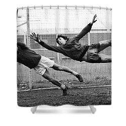 Soccer Goalies, 1974 Shower Curtain by Granger