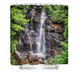 Shower Curtain featuring the photograph Socco Falls by Stephen Stookey