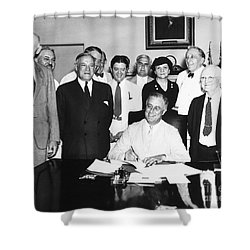 Social Security Act, 1935 Shower Curtain by Granger