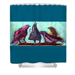 Socializing Shower Curtain