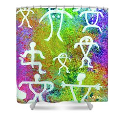 Society #221 Shower Curtain by Donald k Hall