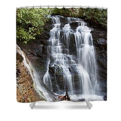 Soco Falls Shower Curtain by Craig T Burgwardt