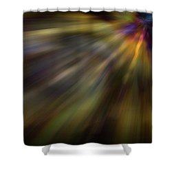 Soft Amber Blur Shower Curtain