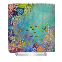Soft And Hard Reef Corals Shower Curtain