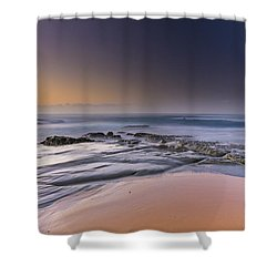 Soft And Rocky Sunrise Seascape Shower Curtain