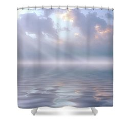 Soft And Sublime Shower Curtain by Jerry McElroy