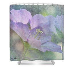 Shower Curtain featuring the photograph Soft Blue by Ann Lauwers