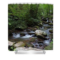 Soft Georgia Stream Shower Curtain