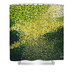 Soft Green Light  Shower Curtain by Dean  Triolo