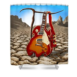 Soft Guitar II Shower Curtain